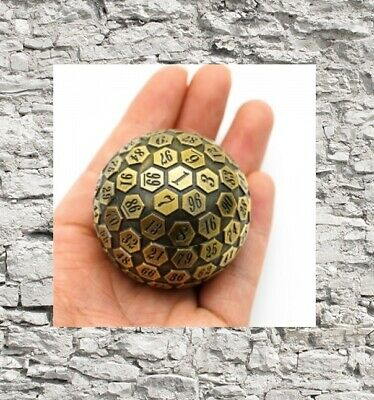 AU27.14 • Buy Golden Plated Ancient Metal D100 Polyhedral DND Die. 100 Sided Dice. RPG