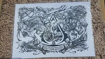 Rare Assassins Creed Black Flag 'ace Of Spades' A4 Litho Reproduction Sealed • 9.50£
