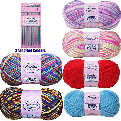 5x Sewing Double Knit 100g Polyester Wool Crochet Baby Crochet Knitting Yarn New • 3.99£