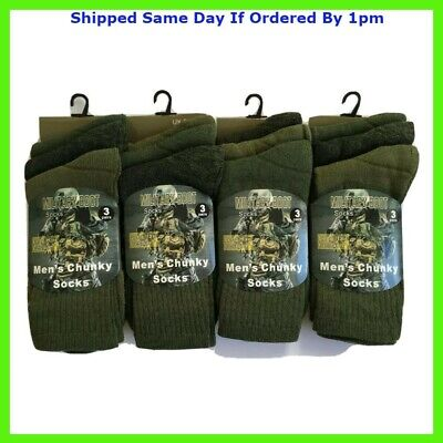 £6.49 • Buy Mens Military Socks 3 Pairs Army Thermal Hiking Boots Walking Combat Warm 6-11