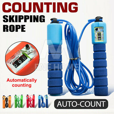AU8.58 • Buy Digital Jump Rope Skipping Rope With Counter For Kids/Children & Adults Exercise