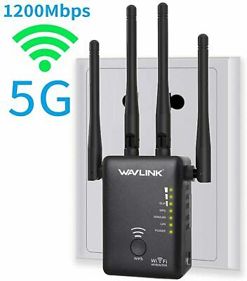 AU80.31 • Buy Wifi Booster Range Extender Dual Band 5GHz + 2.4GHz 1200Mbps With UK Plug New