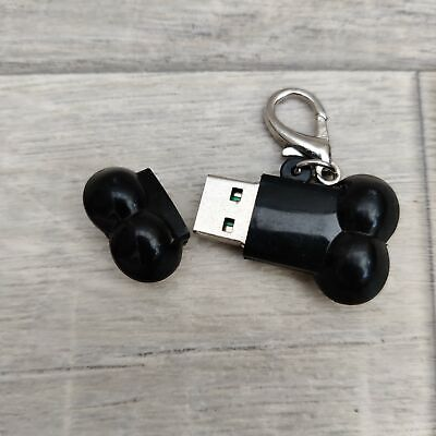 Black Dog Bone Keyring With 32mb USB Stick • 3.20£