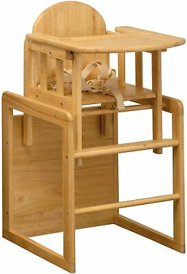 East Coast 3 In 1 Combination Wooden Highchair  Play Table + Safety Harness BNIB • 71.99£