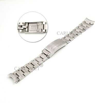 $ CDN32.12 • Buy 20mm Silver 316L Steel Solid Curved Glide Lock Clasp Watch Band For Submariner