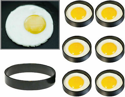 2, 4 Or 6 X  Silicone Egg Frying Rings Pancakes Mold Shapers Circles Food 3  • 2.99£