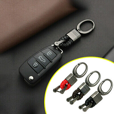$7.60 • Buy Creative Metal Leather Key Chain Ring Keyfob Car Parts Keychain Keyring Gift