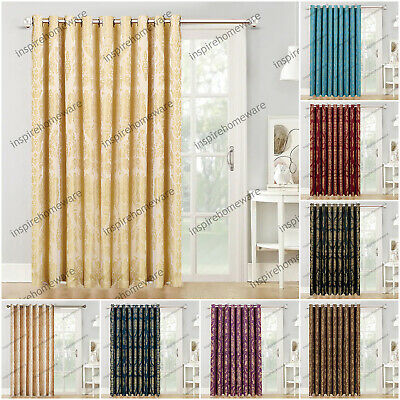 Thermal Door Curtain Eyelet Ring Top Fully Lined Curtains & Cushion Covers • 23.99£