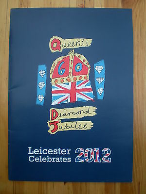 2012 Queen Royal Family Diamond Jubilee Leicester Visit Photo Booklet Brochure • 4.99£