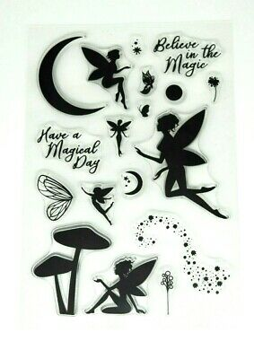 £4.55 • Buy Fairies, Magic, Flowers, Butterflies, Wings Silicon Stamps 0Z