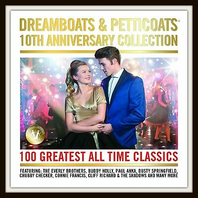 Dreamboats & Petticoats 10th Anniversary Collection CD 100 Tracks Box Set • 5£