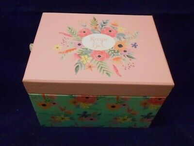 Shabby Chic Pretty Floral Recipe Box With 15 Cards & Index Cards NEW • 9.99£