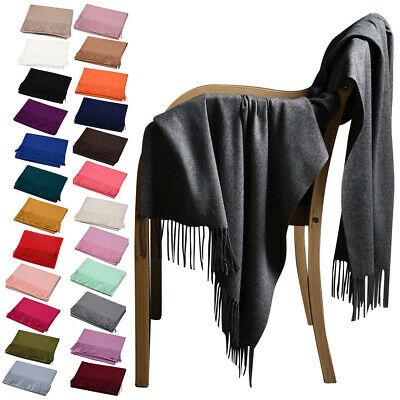 New Elegant Pure Color Faux Pashmina Wool Cashmere Scarf Shawl Women Cape Throws • 4.98£