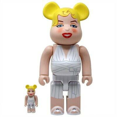 $179.99 • Buy Marilyn Monroe 400% 100% Bearbrick Hollywood Be@rbrick Figure Set Rare Medicom