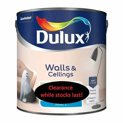 Dulux Vinyl Matt Emulsion Easycare Once Light And Space Walls And Ceiling 2.5l • 15£