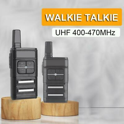 $ CDN52.45 • Buy Mini UHF Walkie Talkie Portable Two Way Radio 16 Channels Long Range HD Voice