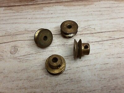 Meccano 5 X #23a Cast Brass 1/2  Pulley With Boss Pre War Stamp • 4.99£