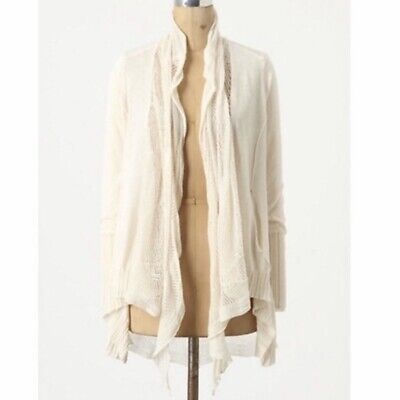$ CDN33.10 • Buy Anthropologie Cardigan Sweater Womens Size Medium Open Front Angel Of The North