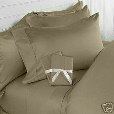 600~800~1000 Tc Beige Solid Sheet/duvet Set/fitted 100%egyptian Cotton Uk~sizes • 88.08£