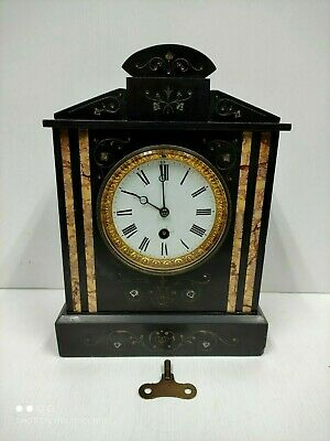 Antique Slate & Marble Mantel Clock • 125£
