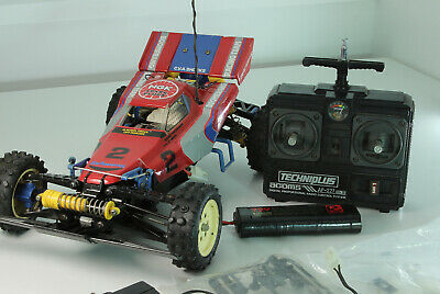 VINTAGE TAMIYA BOOMERANG 1/10th SCALE R/C 4WD OFF ROAD RACER + ACOMS TECHNIPLUS • 97£