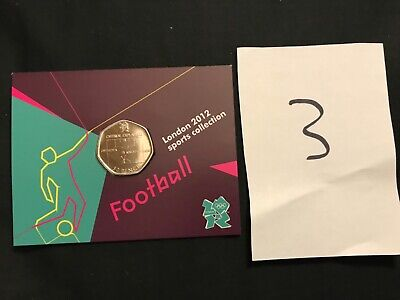 London 2012 Olympic Games OFFSIDE Football 50p Coin Brilliant Uncirculated • 35£