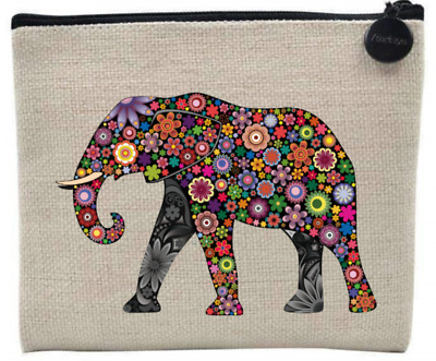 £7.95 • Buy Colourful ELEPHANT Natural Coin Purse / Accessory Case