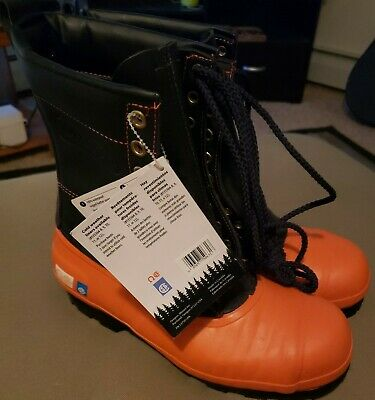 NWT Oregon Safety CHAINSAW FORESTRY BOOTS Leather Top - Lug Sole Women's Sz 9 • 22.69£