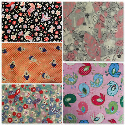 £4 • Buy Cotton Fabric Easter Spring Birds Chicks Bunnies Rabbits Material Dressmaking