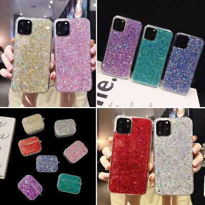 AU10.37 • Buy Glitter Case For IPhone 12 11 Pro XR XS Max 8 7 6S Plus AirPods Case Shockproof