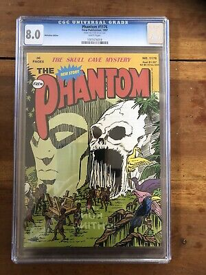 AU350 • Buy Rare CGC 8.0 The Phantom Comic #1176 Certified From Lee Falk Personal Estate !!!