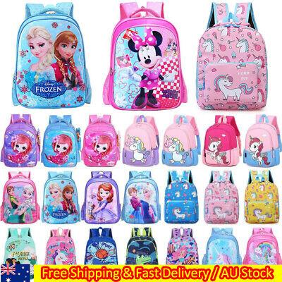 AU33.59 • Buy Kids Children Cartoon Elsa Backpack Girls Boys School Bag Kindergarten Rucksack