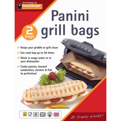 Toastabags 2 Pack Reusable Panini Grill Griddle Bags Toasted Sandwich Toastie  • 2.95£