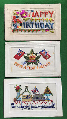 Embroidered Silks From The Great War- Different Topics-unposted. • 15.75£