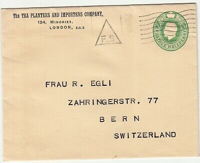 GB: GV Embossed Cover; Tea Planters And Importers Company, London-Bern • 5.45£