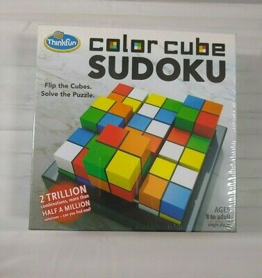 New ThinkFun Color Cube Sudoku Award Winning Flip Cubes Puzzle • 14.11£