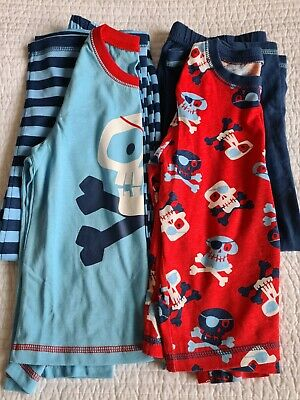 George Age 4 - 5 Years Blue / Red Cotton Pirate Pyjamas - 2 Pack BNWOT  • 4£