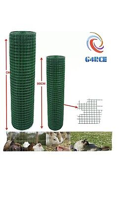 Fencing Mesh Garden Green PVC Coated Galvanised Fence Chicken Wire Aviary Posts • 8.75£