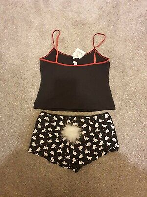 Ex Shop Stock Ann Summers Size 14 To 16 Rabbit Pyjamas With Fluffy Bunny Tail • 9£