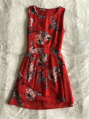 £12 • Buy Wal G Red Sleeveless Dress Size Small 8-10 Layered Excellent Condition