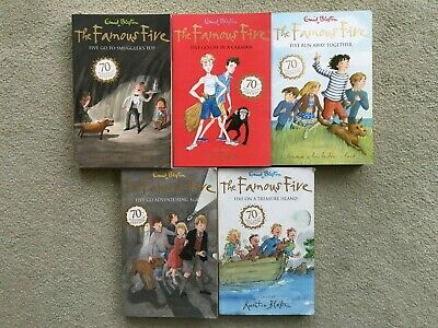 £8.50 • Buy Enid Blyton THE FAMOUS FIVE Five Book Set 70th Anniversary Edition 1st Printing