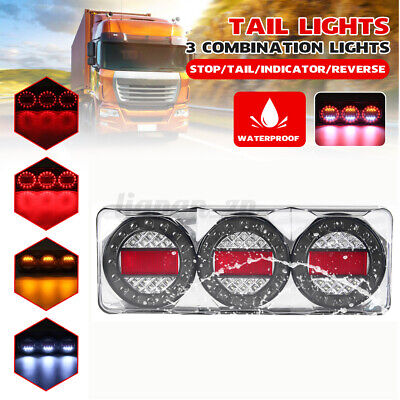 AU198.99 • Buy LED 3 Combination Lights Tail Lamp Signal STOP Trailer INDICATOR Truck Ute 12V