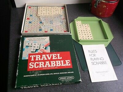 Travel Scrabble Board Game Vintage Spears Games Complete Good Condition Complete • 12.99£