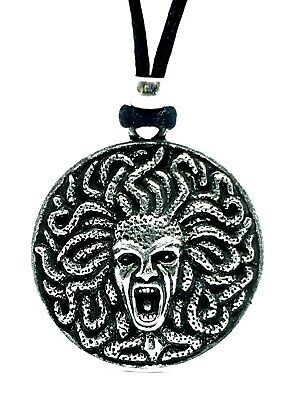 £5.95 • Buy Medusa Pendant Goddess Curse Queen Of Protection Gorgon Pewter Corded Necklace