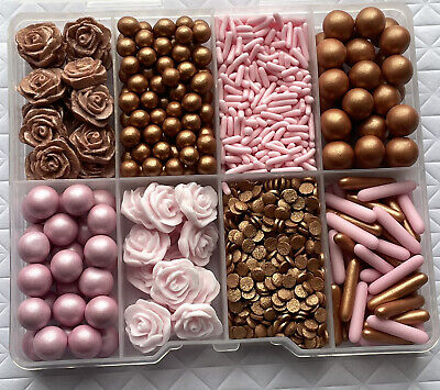 £10 • Buy Mixed ROSE GOLD Sprinkle Box Cupcake Toppers,decorations Party
