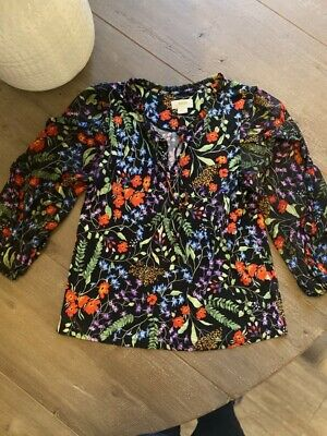 $ CDN31.55 • Buy Anthropologie Maeve Floral Blouse Top Long Sleeve Size Small