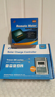 EPEVER MPPT Solar Charge Controller Tracer 3210AN & Remote Meter MT50 • 31£