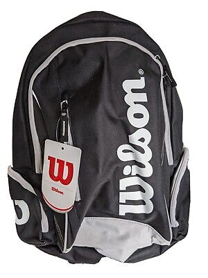 Wilson Advantage II Tennis Backpack - Black - Carries 2 Rackets And Accessories • 24.99£