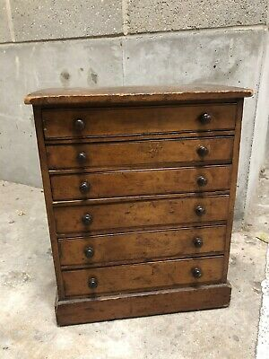 Antique Wooden Collectors / Specimen Cabinet / Chest Of Drawers • 269£