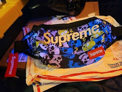 $ CDN22.46 • Buy Supreme Fanny Pack Waist Bag Skate Skulls Rare